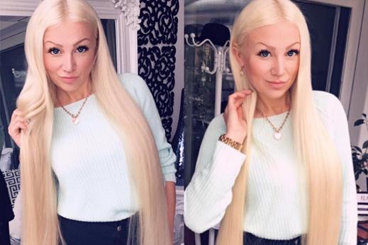 lange blonde echthaar extensions 90cm